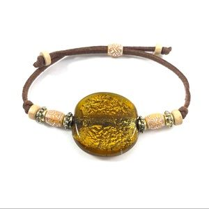 Jewelry - Natural stone suede cord adjustable bracelet (f1)